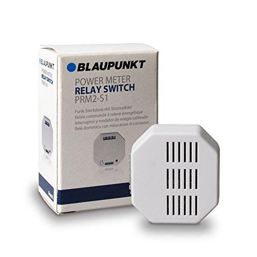 Blaupunkt Smart Home Relais PRM2-S1 I Zubehör für die Q-Serie von Blaupunkt I Einbauschalter für Steckdosen I Unterputzschalter I Stromzähler I Steuerung per App I 1 Stück I Weiß