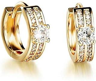 OPK Korean Style Fashion Cubic Zirconia Earwear Copper Plating 18K Gold Earring For Women