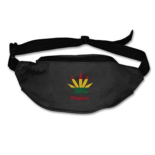 Riñonera Deportivo Weed Reggae Bolso Cintura Cinturón Ajustable Running Belt Bolsa de Correr
