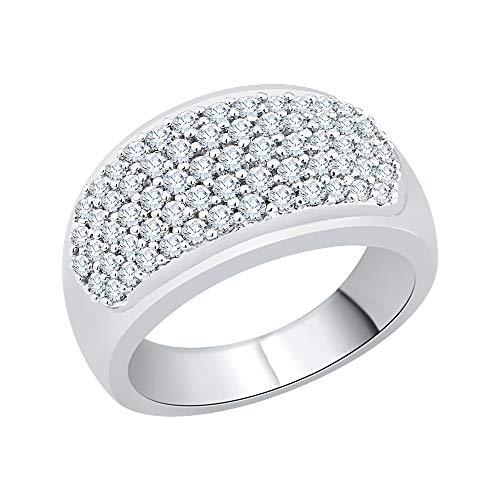KATARINA Anillo de diamantes pavé en oro de 14 quilates (1 cttw, I-J, I1)