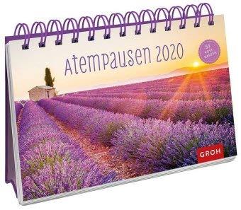 Atempausen - Kalender 2020 - Postkartenkalender - Groh-Verlag - Aufstellkalender - Wochenkalender - Tischkalender mit 53 heraustrennbaren Postkarten und Zitaten - 21 cm x 17 cm