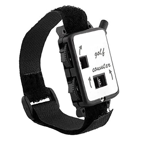 Movimiento de Golf Puntuación Guardián Golf Club Conteo de pulsaciones Partitura con Reloj de Pulsera de Banda para Deportes al Aire Libre Negro