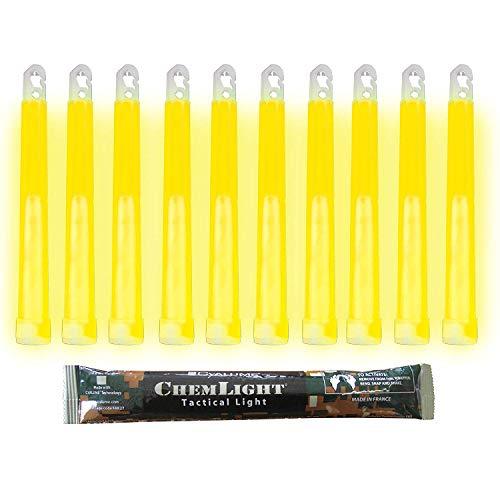 Cyalume Gelb, Militärqualität, 15 cm, hohe Intensität 30 Minuten, 10 Stück