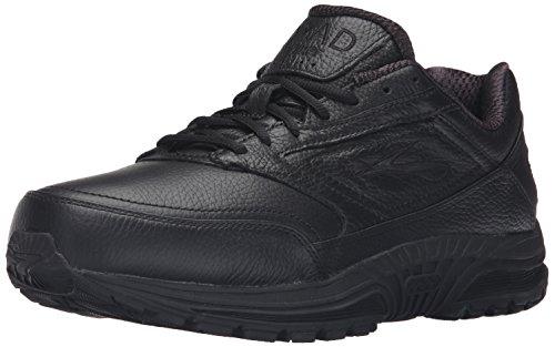 Brooks Men's Dyad Walker Black Leather Fashion Sneaker - 11.5M