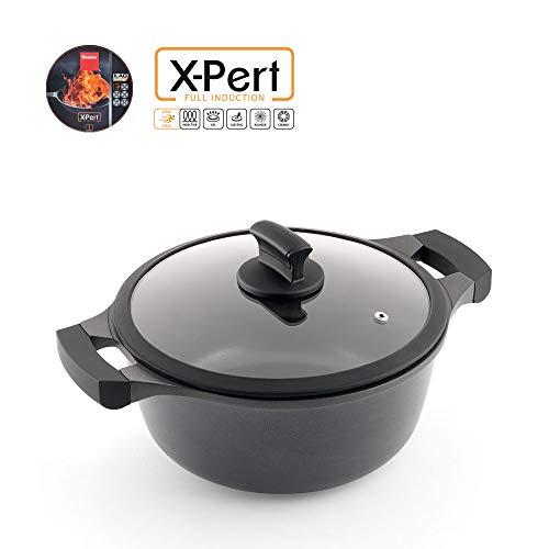 Metaltex XPERT-Cacerola Alta Aluminio Fundido, 26 cm, Antiadherente ILAG 3 Capas, Full Induction válido para Todo Tipo de cocinas