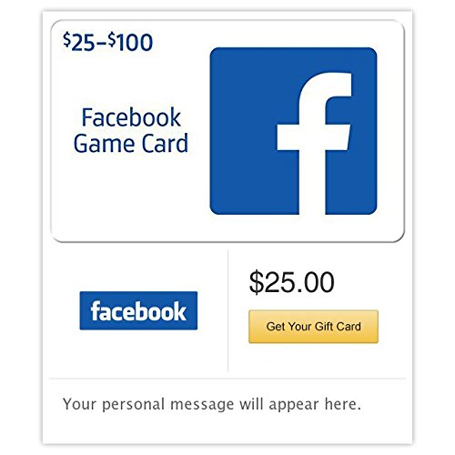 Facebook Gift Cards - E-mail Delivery