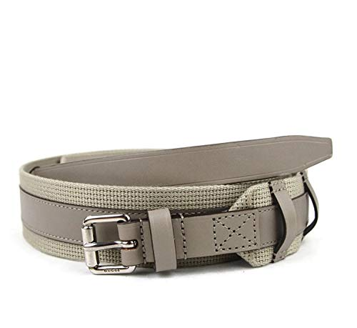 Gucci 341744 - Cinturón cuadrado de piel de gamuza para hombre, color beige, Beige, 85/34