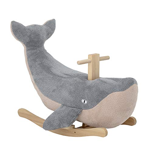 Bloomingville Rocking Horse Whale Moby Azul, Poliéster