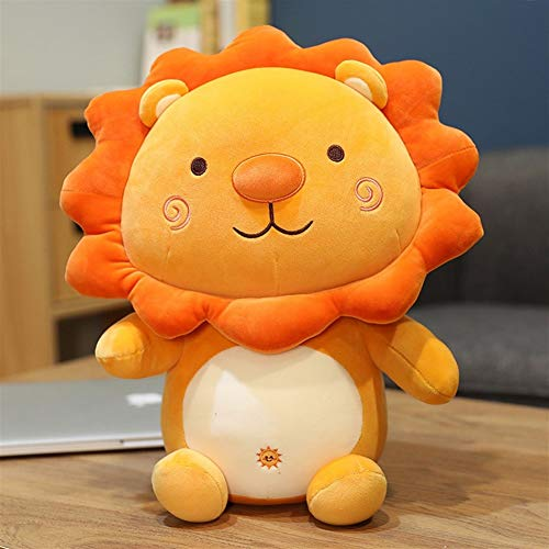 HOUMEL Small Lion Plush Toy, Cute Mini Baby Pillow Yellow And Orange Cushions Doll Soft Big Cushions Cuddle Comforter Toy Huggable Stuffed Gift Toys For Boys And Girls Toddler 295