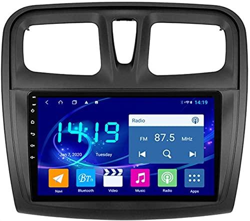 AEBDF Navegación estéreo para Coche con Android 9,1 para Renault Sandero 2014-2017, Reproductor Multimedia Bluetooth con Pantalla táctil y navegación,4Core WiFi 1+16G
