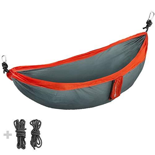 Sportastisch Hängematte Top-Produkt¹ Cozy Dozy für Garten Balkon Park Wandern, Ultraleichte Outdoor & Reisehängematte für 2 Personen, Atmungsaktives Fallschirm Nylon, bis zu 3 Jahren Garantie²