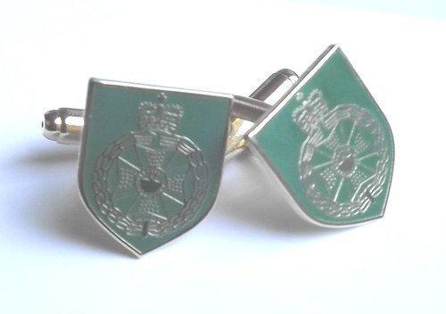Vert militaire Royal Veste Unique Boutons de manchette en acier inoxydable de qualité