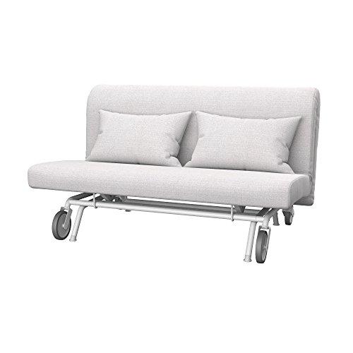 Soferia Bezug fur IKEA PS 2er-Bettsofa, Stoff Naturel White