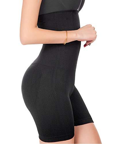 Ceestyle Faja Reductora Braguita Moldeadora Adelgazante Faja Pantalón Cintura Alta Body Moldeador Abdomen Shapewear Lenceria Mujer (Negro, S)