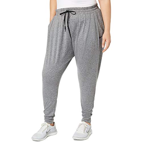Nike Womens Plus Yoga Dance Pants Gray 2X