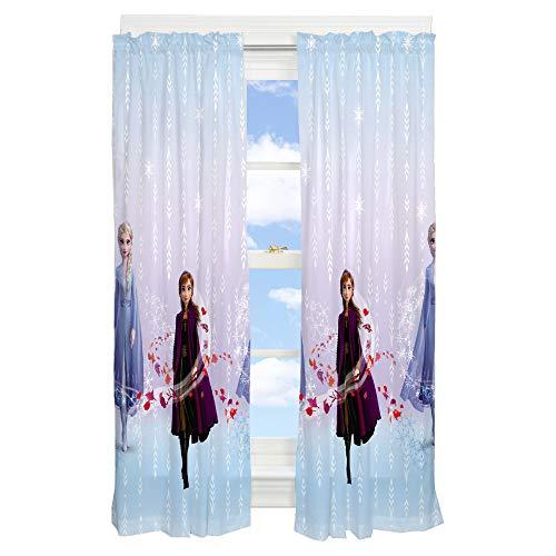"Franco Kids Room Window Curtain Panels Drapes Set, 82"" x 63"", Disney Frozen 2"