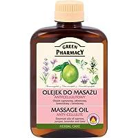Green Pharmacy- Aceite anticelulitico a base de aceites esenciales de Lavanda enebro y ciprés con base de aceite de almendras dulces 200 ml.