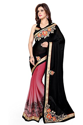 Mirchi Fashion Mirchi Fashion Indian Sari Kleid mit Ungesteckt Oberteil/Top Damen Sarees
