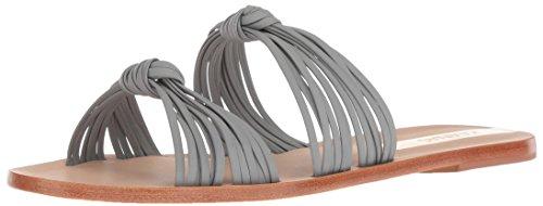 KAANAS Damen Iguazu Multi Strap Knotted Flat Leather Flache Sandale, Taupe, 39 EU