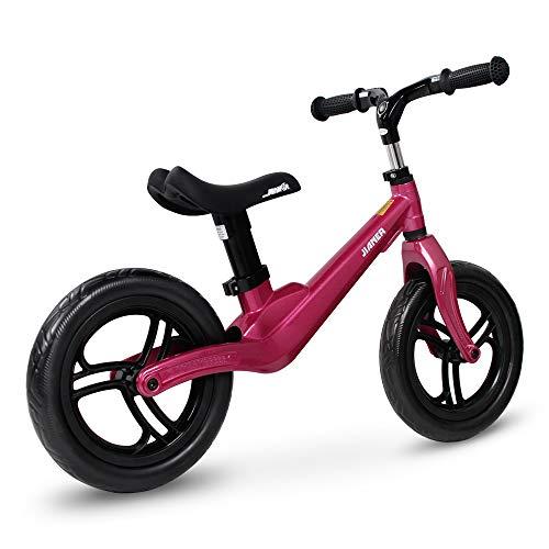 SENQI Bicicleta de Equilibrio para niños de 12 Pulgadas, sin Pedal, Bicicleta de 2 a 4 años de Edad, U-HBC003-PR, Plum Red, 30,5 cm