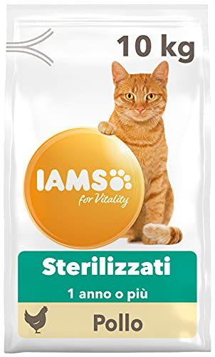 IAMS for Vitality Hairball Control, Alimento Secco contro i Boli di Pelo per Gatti Adulti e Anziani...
