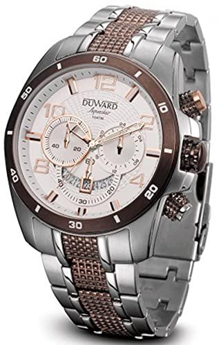 Duward aquastar Racing Reloj para Hombre Analógico de Cuarzo con Brazalete de Acero Inoxidable D95500.61