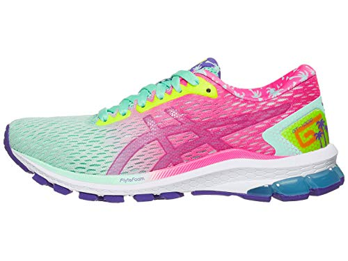 ASICS Women's GT-1000 9 Running Shoes, 10.5M, Fresh ICE/HOT Pink