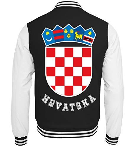 Hochwertige College Sweatjacke - Kroatisches Wappen Hrvatska T-Shirt Kroatien Trikot Geschenk