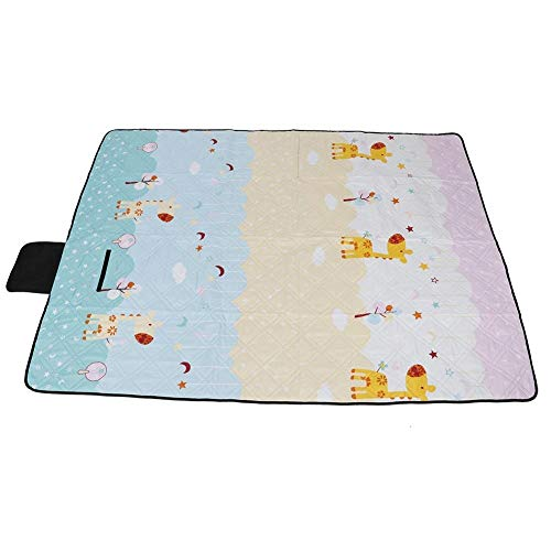 Vikenar Ultraschall-Massiv Cotton Prozesspicknickdecke wasserdichte Camping Blanket (Giraffe)