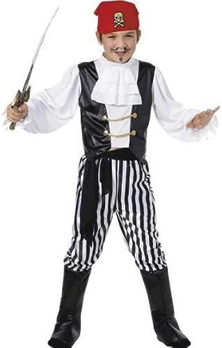 Schwarzund Weiß-Kostüm Piratin Kostüm für Kinder 6-8 Jahre
