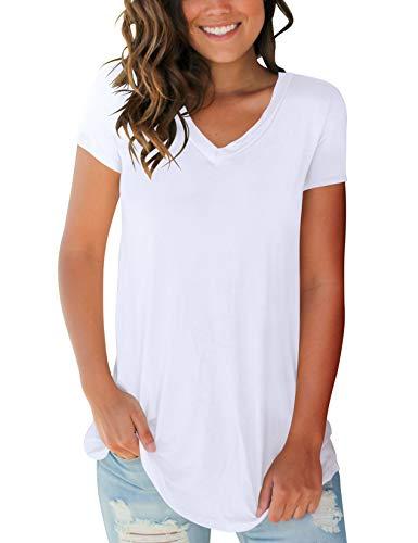 SMALOVY-Womens-Tops-Short-Sleeve-V-Neck-T-Shirts-Summer-Basic-Tees-with-Pocket