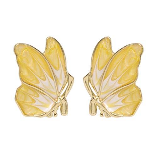 Vvff Pendientes De Botón Con Forma De Animal Con Textura Metálica Para Mujer De Mariposa, Accesorios De Joyería De Temperamento Elegante Para Niña