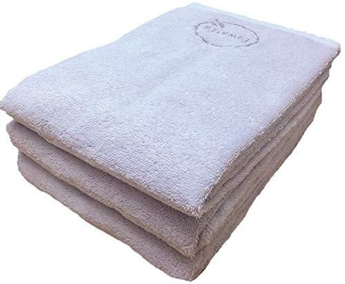 【選べる12色】バスタオル 同色 3枚セット ふんわり仕上げのナチュラルバスタオル(70×140cm)/ラベンダー