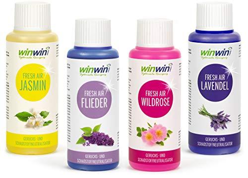 winwin clean Systemische Reinigung 4 x Fresh AIR 100ML I Jasmin I Flieder I WILDROSE I Lavendel