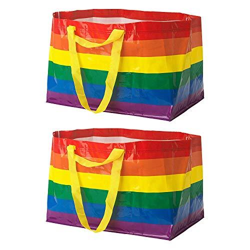 Ikea 3 X KVANTING (FRAKTA) Large 71L Pride Rainbow Reusable Carrier Bags - Set of 2