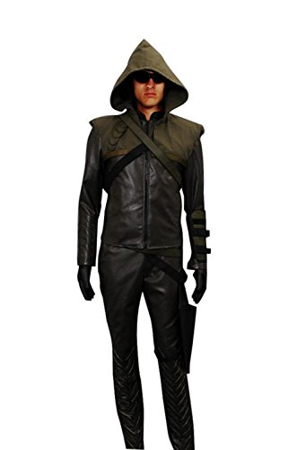 CosDaddy Cosplay Costume Oliver Queen Green Arrow Hoodie (Custom-Made)