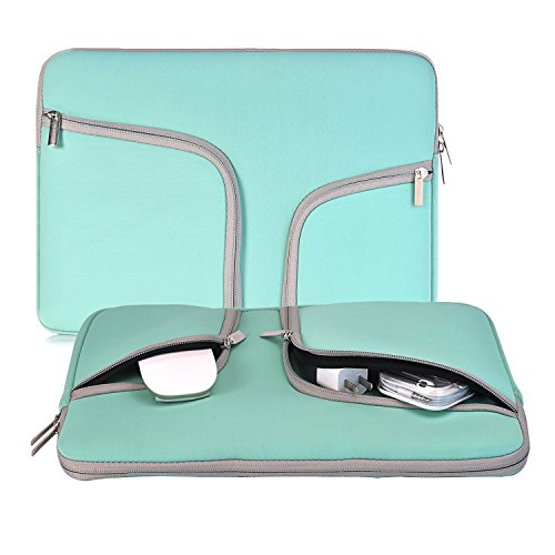 Laptop Sleeve 11.6 Inch, Egiant Water-Resistant Protective Case Bag Compatible Mac Air 11, Mac 12 Retina, Chromebook 11.6, Stream 11, Surface Pro 4 5 6, Computer Notebook Carrying Cases-Turquoise