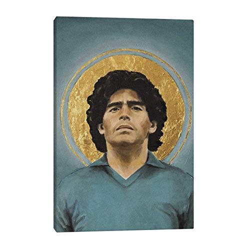 wZUN Diego Maradona Impresión de Carteles Decoración del hogar para el salón 50x75 Sin Marco