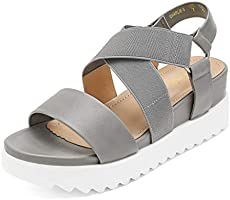 DREAM PAIRS Women's Open Toe Ankle Strap Platform Wedge Sandals