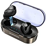 Wireless Bluetooth Earbuds,ANROOG A8 Latest Bluetooth 5.0 True Wireless Earbuds 35H Playtime 3D Stereo Sound Wireless Headphones,Built-in Microphone,Gift Box