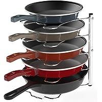 SimpleHouseware Cabinet Pantry Pot and Pan Organizer Holder Rack Holder
