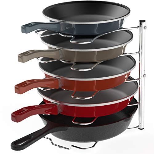 SimpleHouseware Kitchen Cabinet Pantry Pan and Pot Lid Organizer Rack Holder,...