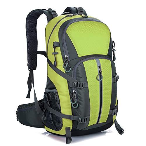 Mornyray Mochila Senderismo 40L, Mochila de Montaña Impermeable Mujer Hombre, Mochila de Viaje Trekking Acampada Caminar con Cubierta Lluvia (Verde) ⭐