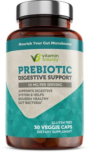Prebiotics with PreForPro® - Advanced Digestive Support - Grow Beneficial Gut Bacteria - Vegan, Non GMO & Gluten Free - 30 Servings