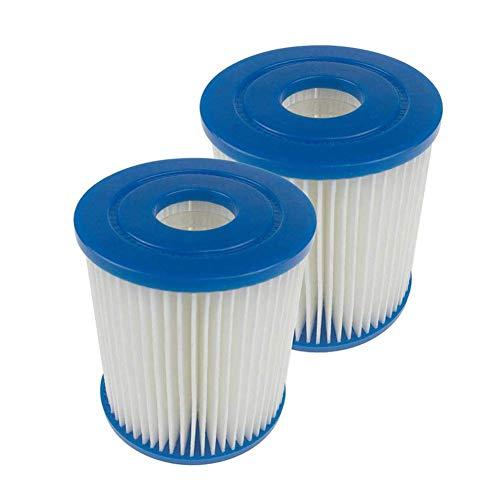 Cartuchos Filtros para Piscinas Tipo I Cartucho de Filtración para Piscina Filtro de Repuesto Accesorios de Bombas Piscinas, 2 Piezas