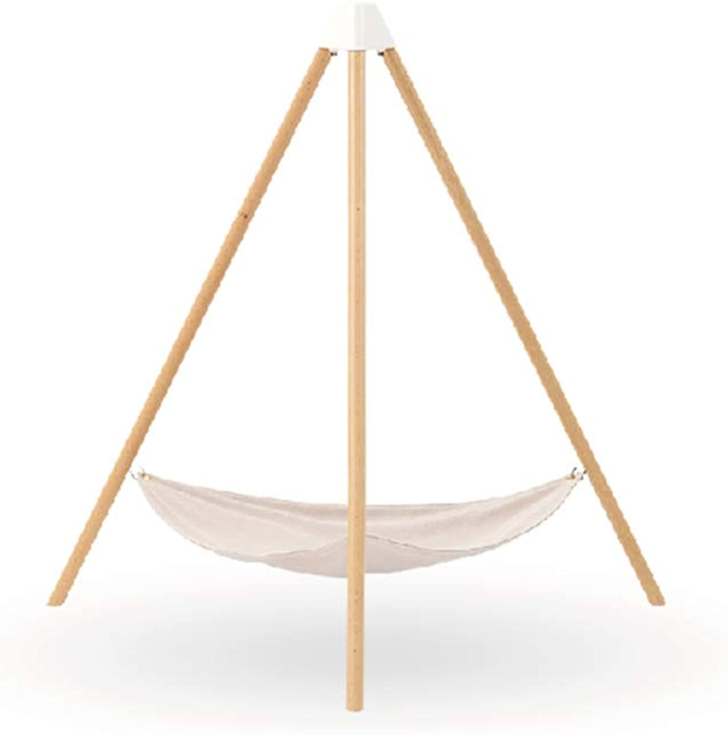 Pidan cat Hammock Bed cat Hanging Bed with Stand Natural and Beech Chenille Velvet for a Gentle Touch