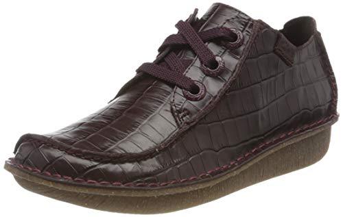 Clarks Funny Dream, Zapatos de Cordones Derby Mujer, Morado (Borgoña), 37.5 EU