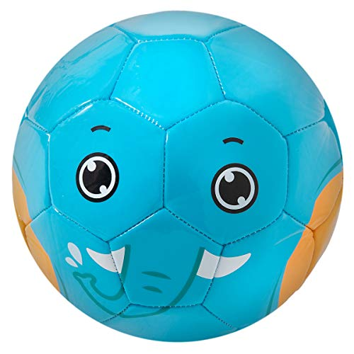 YANYODO Kid's Soccer Ball Mini Ball for Kids,Toddlers and Babies Soft Touch Balls Size 1.5&Size 3, Shipped Deflated (The Elephant, Size 3-7 inch Ball - for Age 4 to 8)