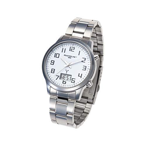 Masterline1966 ML06288010 - Reloj analógico digital con correa de acero inoxidable