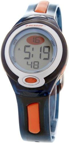 Dunlop DGAME2 - Reloj digital de mujer de cuarzo con correa de goma azul (luz) - sumergible a 50 metros